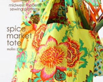 Amy Butler Spice Market Tote Sewing Pattern, FREE SHIPPING