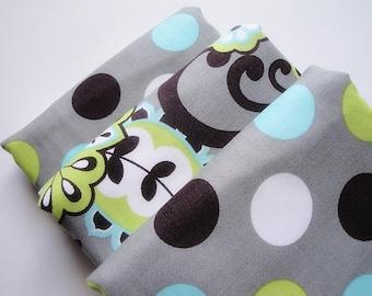 Grey Happy Dot Baby Burp Cloth Set (3)
