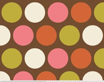 Riley Blake Indian Summer Big Dot Brown Flannel Fabric, 1 yard