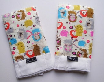 Michael Miller Hedgehog Baby Burp Cloth Set (2)