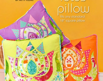 Patty Young Modkid Modern Lotus Pillow Sewing Pattern, FREE SHIPPING
