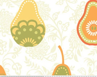 Riley Blake White Decadence Pears Fabric, 1 yard