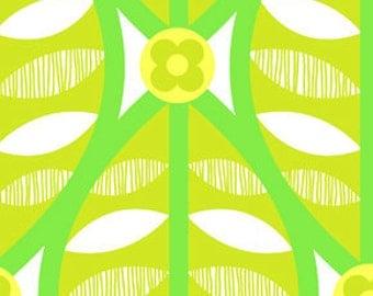 Greenhouse Buttonwood Grass Flannel Fabric, 1 yard