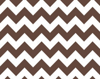 Riley Blake Chevron Brown Fabric, 1 yard