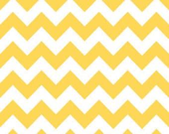 Riley Blake Medium Chevron Yellow Fabric, 1 yard