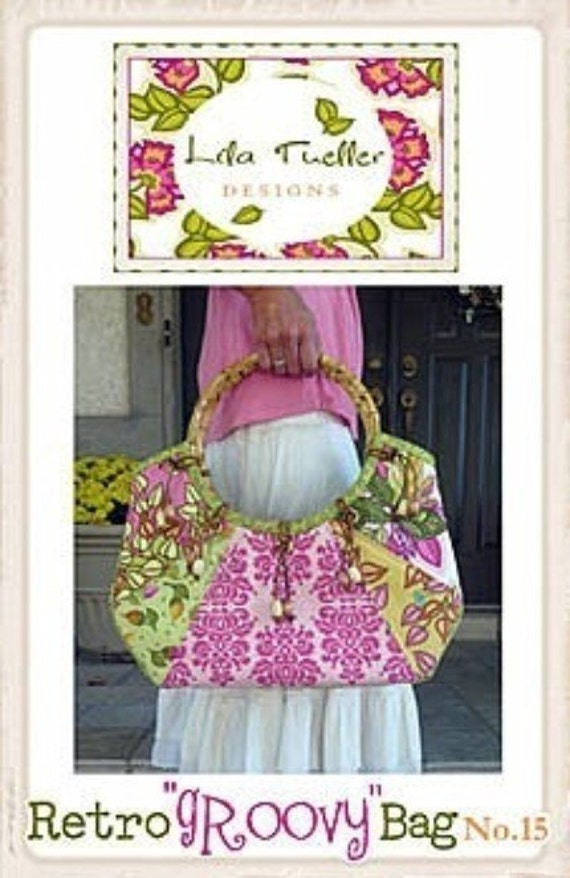 Lila Tueller Retro Groovy Bag Sewing Pattern, FREE SHIPPING