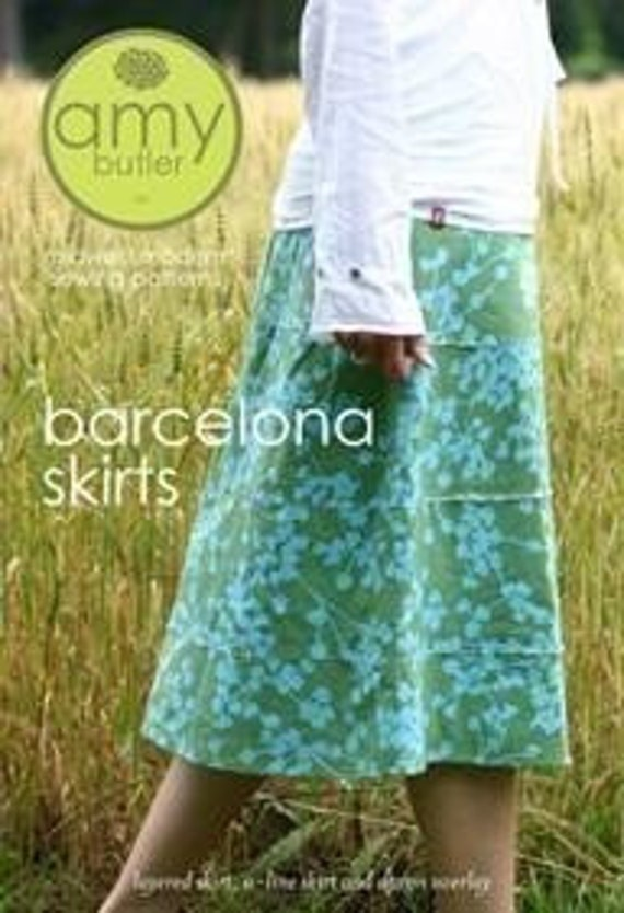 Amy Butler Barcelona Skirts Sewing Pattern, FREE SHIPPING