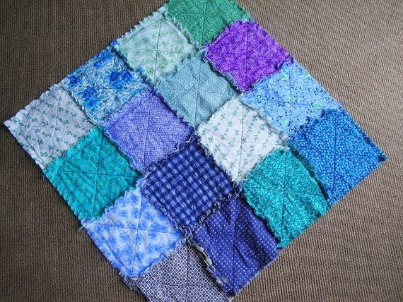 Cool Iris Quilted Snuggle Rag Baby Toddler Lap Blanket