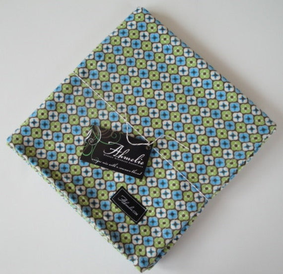 Chocolate Green Diamond Baby Blanket Swaddler--LARGE