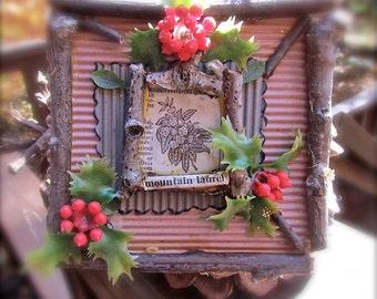 Rustic Mountain Laurel Ornament