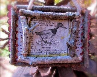 Adorable Rustic Canvasback Duck Ornament
