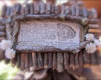Rustic Woodland Bullfrog Ornament