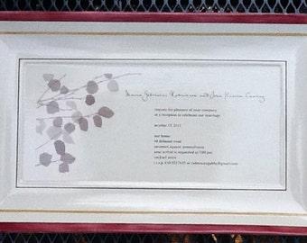 "14"" x 8"" Rectangle Wedding Plate"