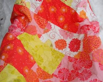 Flower Garden lapquilt - reduced