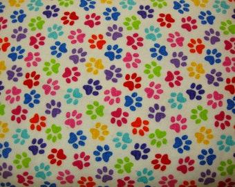 PAWS  FLANNEL yardage - REDUCED