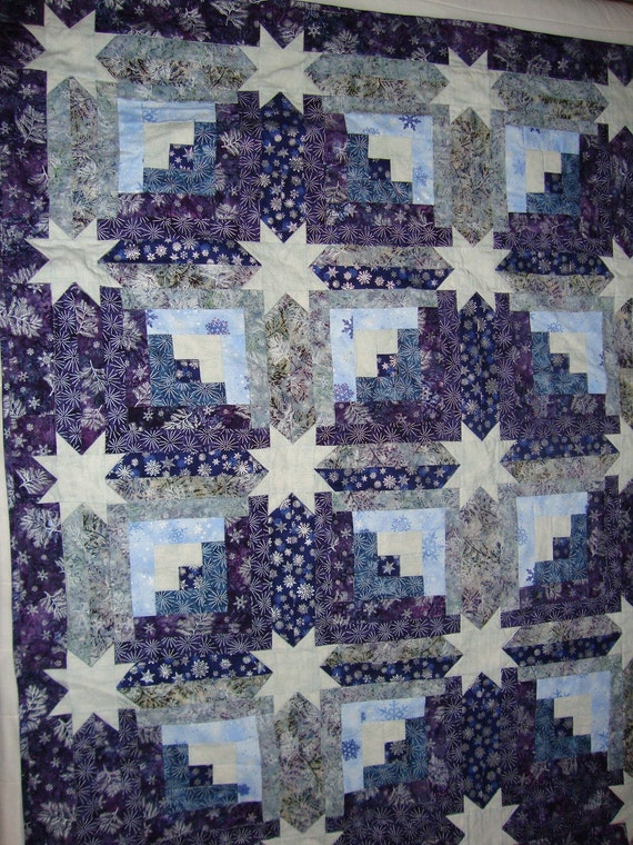 Star Log Cabin quilt - reduced