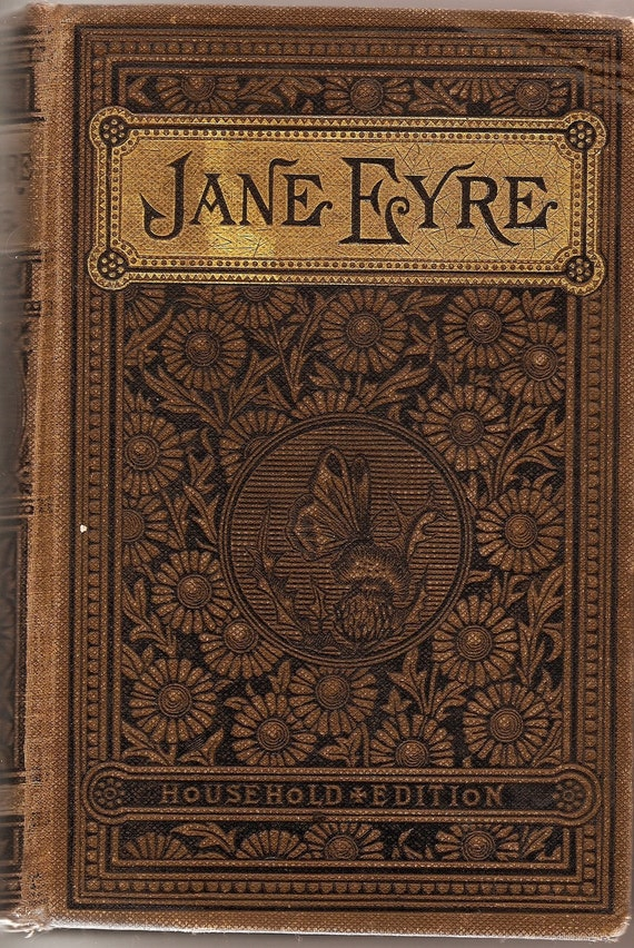 Beautiful Vintage Book Cover : Vintage jane eyre book from