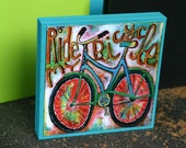 Large Ride my Bicycle Art Blox