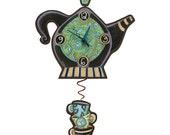 Spot o' Tea Pendulum Clock