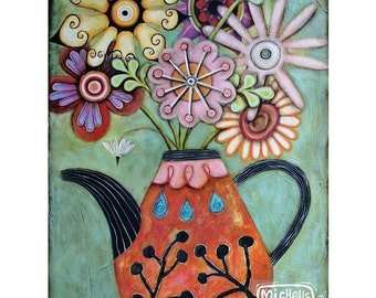 Flower-tea-ful art print