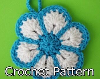 PDF Crochet Pattern -  Flower Scrubby