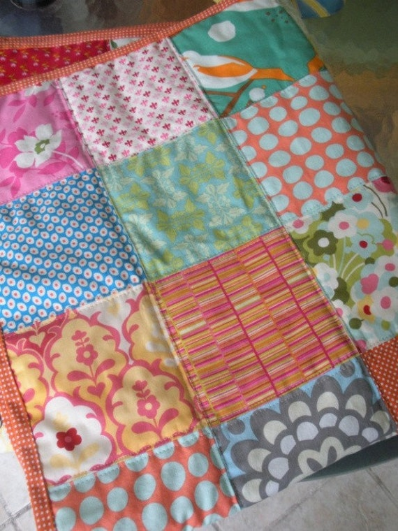 Handmade Quilted New Baby Quilt Baby Shower Patchwork Baby Stroller Car Seat Quilt