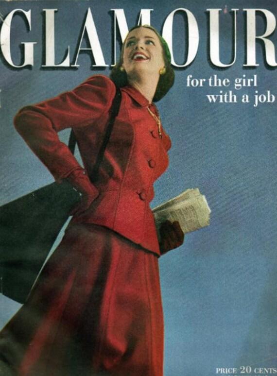 Vintage 1940s Glamour Magazine