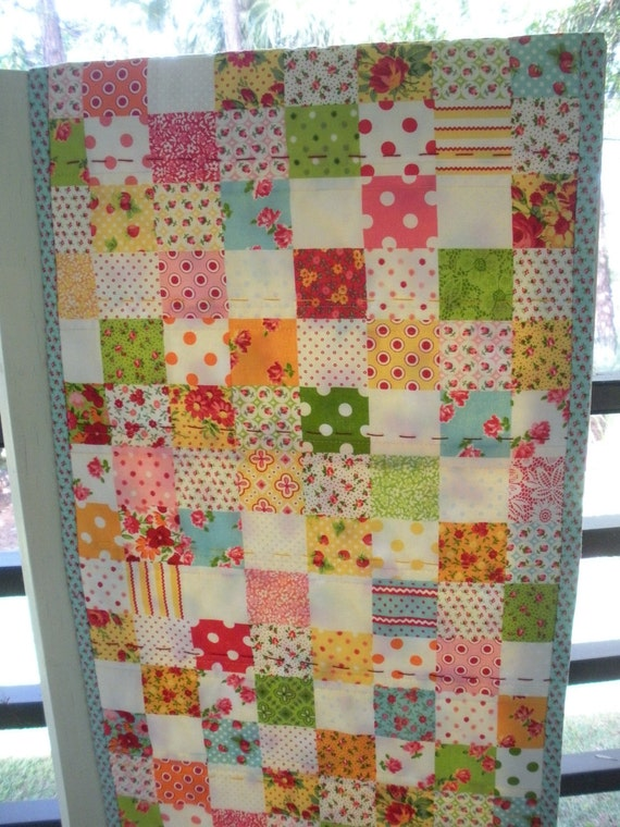 Reserved for Tara Floral Quilted Table Runner Mat Lakehouse Dry Goods Strawberry