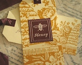 3 Honey Tags with Ribbon Tie
