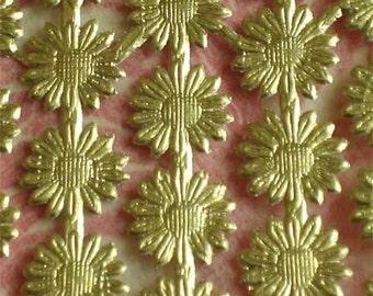 "Gold Foil Dresden Daisy Trim Border  (8 bands of 12"")"