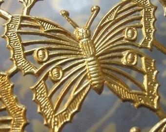 Gold Foil Dresden Butterflies 1.25 in. (40 butterflies)