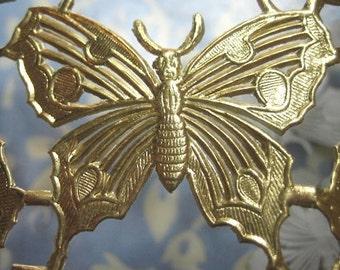 """Gold Foil Dresden Butterflies 2"""" (24 butterflies)"""