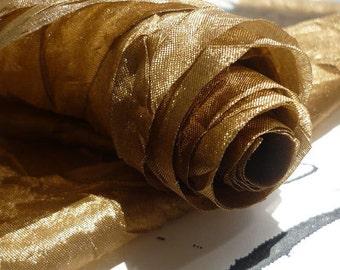 "10 Yards of Silky Mocha Crinkle Ribbon (2"")"