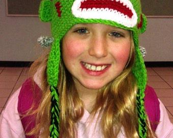 Crochet FrankenMonkey the Sock Monkey Hat