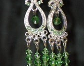Bring in the spring with these green Swarovski crystal earrings