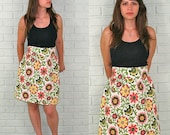 High waist handmade vintage inspired skirt