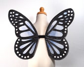 Child Fairy Wings - Terrific for fairy costume, Halloween costume, fairy photography, or wedding - Blue fairy wings - Deirdre design