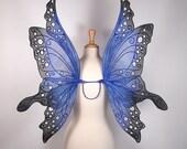 Fairy wings - Ideal for fairy costume, fairy photography - Blue fairy wings - Handmade - Custom - Ariel Design