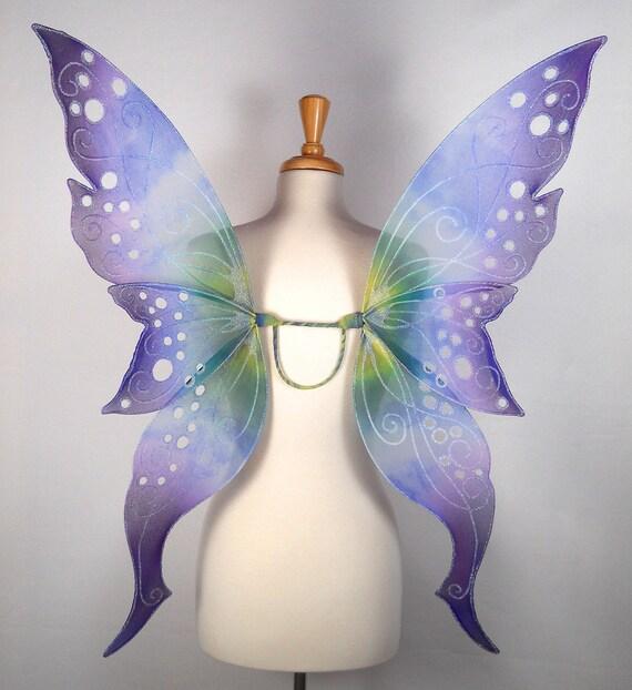 Fairy wings - Blue, purple, green and yellow - Handmade - Custom - eve Design