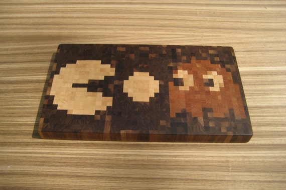 PacMan Cutting Board (With Blinky (or possibly Clyde))
