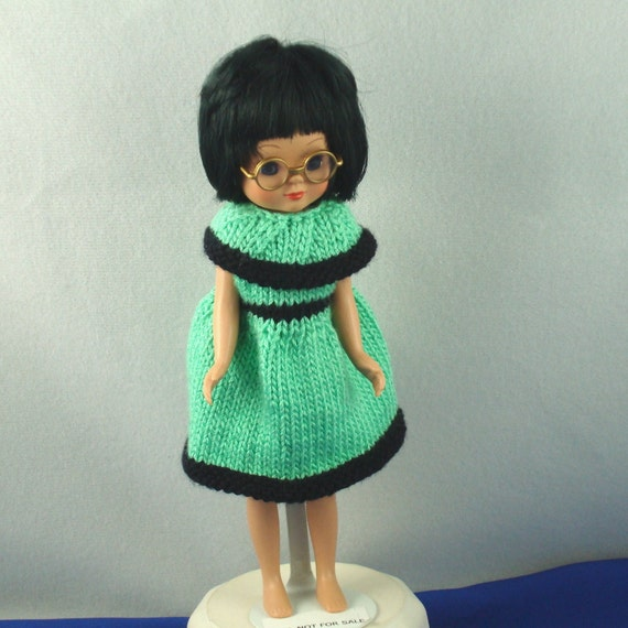Knit doll dress for 8 inch Betsy McCall, Kickit or Penny Brite