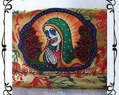 SALE  1/2 OFF UNTIIL 9/26 Gold Leather Prayer Girl Clutch