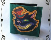 Mad Cheshire Cat in the Hat Bifold wallet
