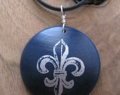 Fleur de Lis...Maple Wood Pendant...I am a KIVA loaner