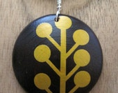 Aspen Tree Pendant Brown Maple Wood