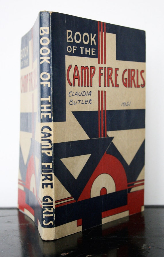 1950 Camp Fire Girls Handbook - Illustrations for Needlework, Art Projects and Crafts