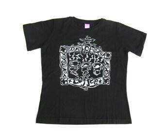 Womens Coffee Mug T Shirt, Caffeine Tee or Top, Coffee Lovers Shirt, Coffee Lovers Gift, Birthday Present, Short Sleeves, Black Cotton Shirt