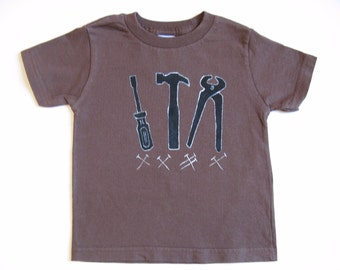 Kids Tools T Shirt, Handyman Shirt, Builder Shirt, Tool Outfit, Tool Lovers Shirt, Tool Theme, Hand Painted, Tee or Top, Baby and Toddler