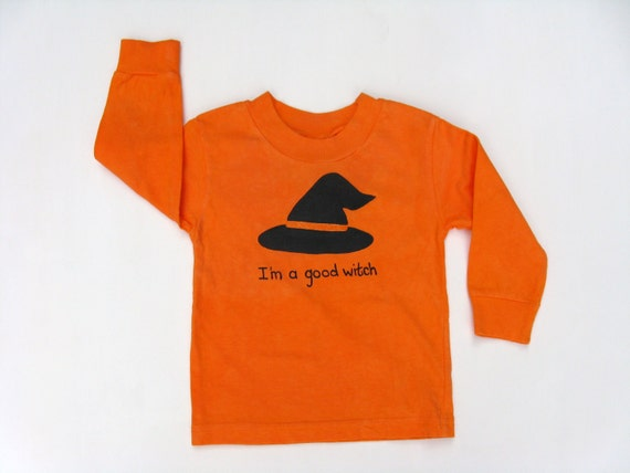 Girls Halloween Witch T Shirt, Good Witch, Halloween Outfit, Halloween Party, Witch Theme, Halloween Costume, Hand Painted, Baby and Toddler