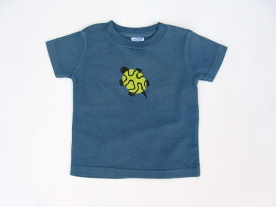 Turtle T Shirt, Baby Shirt, Turtle Theme, Turtle Lovers Shirt, Shower Gift, 1st Birthday, Hand Dyed, Hand Painted, Tee or Top, Boys or Girls
